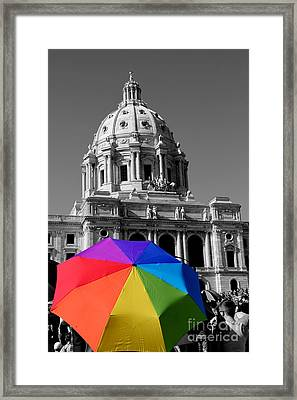 Love Is The Law Framed Print
