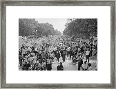 August 28, 1963 - A Large Group Framed Print