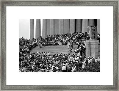 August 28, 1963 - Civil Rights March Framed Print by Stocktrek Images