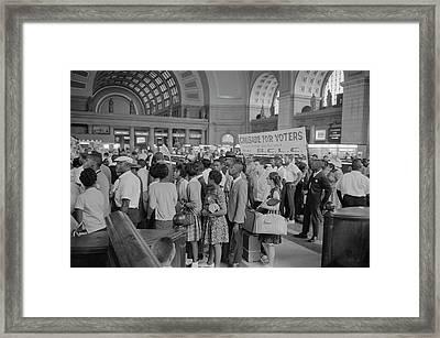 August 28, 1963 - Marchers Arriving Framed Print