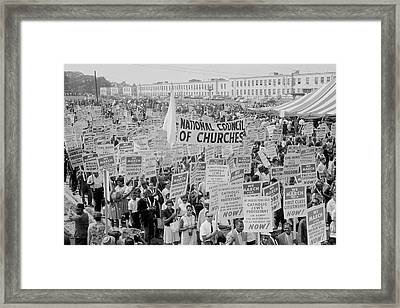 August 28, 1963 - Marchers, Signs Framed Print