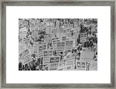 August 28, 1963 - Marchers With Signs Framed Print