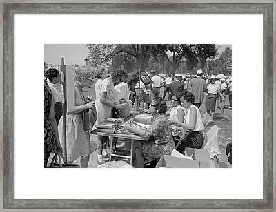 August 28, 1963 - Souvenir Booklet Framed Print