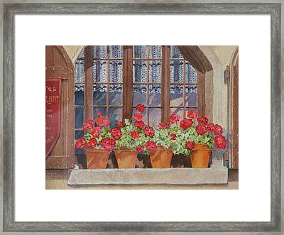 August At The Auberge  Framed Print