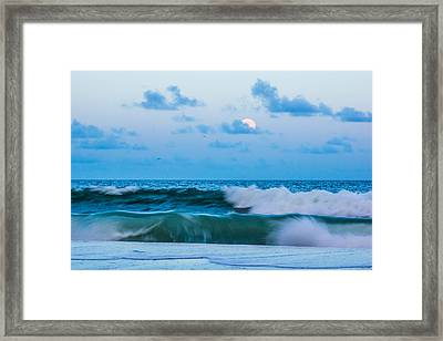 August Blue Moon Framed Print