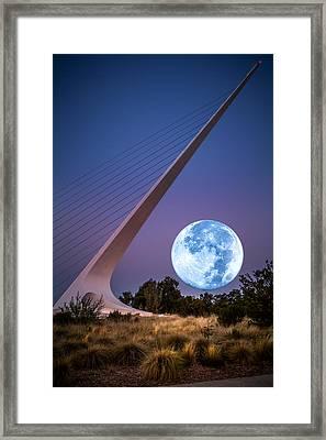 August Moon Framed Print by Randy Wood
