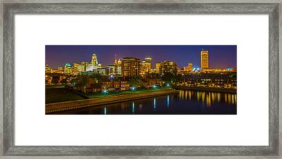 August Night In Buffalo Framed Print