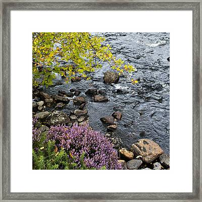 Framed Print featuring the photograph August Palette Scotland by Sally Ross
