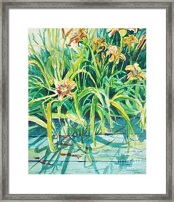 Framed Print featuring the painting August Shadows by Joy Nichols