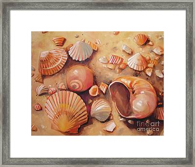 August Shells Framed Print by Mary Hubley