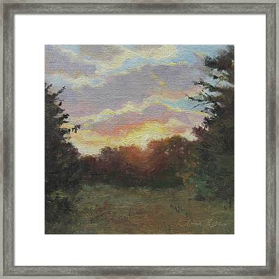 August Sunrise Plein Air Framed Print by Anna Rose Bain
