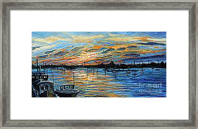 August Sunset In Woods Hole Framed Print by Rita Brown