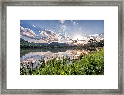 August Sunset Framed Print
