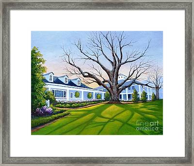 Augusta National Clubhouse Framed Print
