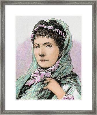 Augusta Of Saxe-weimar-eisenach Framed Print