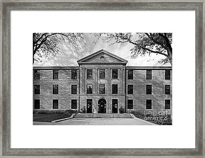 Augustana College Carlsson Evald Hall Framed Print by University Icons