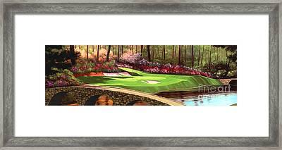 Augustas 12 Hole 28x9 Framed Print