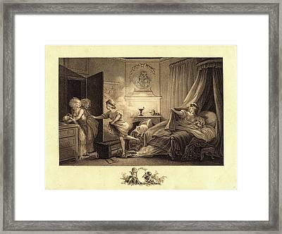 Auguste-claude-simon Legrand After Jean-honoré Fragonard Framed Print by Litz Collection