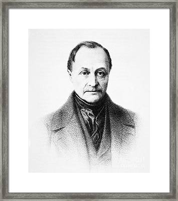 Auguste Comte, French Philosopher Framed Print