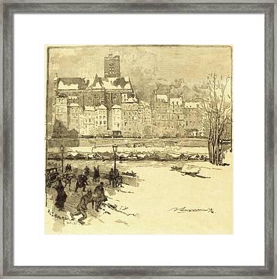 Auguste Lepère French, 1849 - 1918, Quai De Lhôtel De Framed Print by Quint Lox