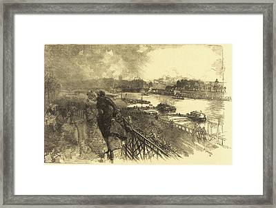 Auguste Lepère French, 1849 - 1918, The Seine Framed Print by Quint Lox