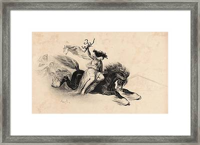 Auguste Raffet French, 1804 - 1860. Affiche Pour La Framed Print by Litz Collection