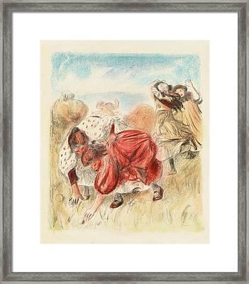 Auguste Renoir, Children Playing Ball Enfants Jouant A La Framed Print