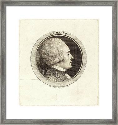 Augustin De Saint-aubin After Charles-nicolas Cochin II Framed Print
