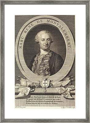 Augustin De Saint-aubin After Maurice-quentin De La Tour Framed Print