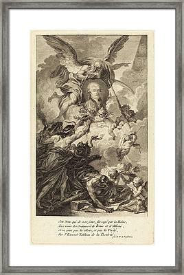 Augustin De Saint-aubin French, 1736 - 1807 Framed Print by Quint Lox