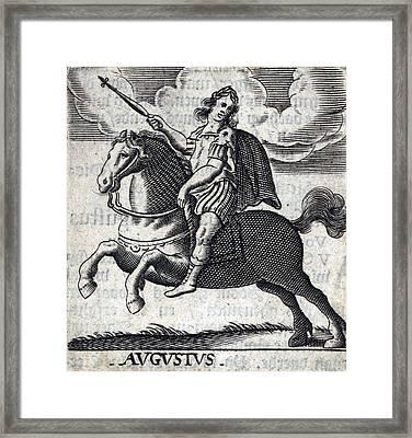 Augustus, 1st Emperor Of Rome Framed Print