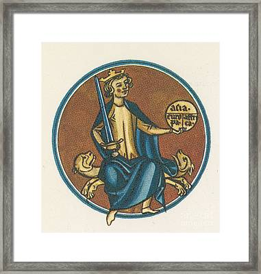 Augustus, First Emperor Of Rome Framed Print