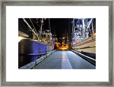 Framed Print featuring the photograph Auke Bay By Night by Cathy Mahnke