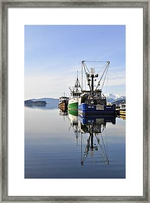 Auke Bay Reflection Framed Print by Cathy Mahnke