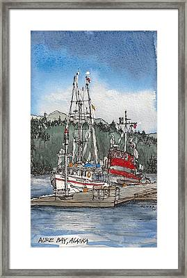 Framed Print featuring the mixed media Auke Bay  by Tim Oliver