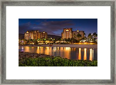 Aulani Disney Resort At Ko Olina Framed Print