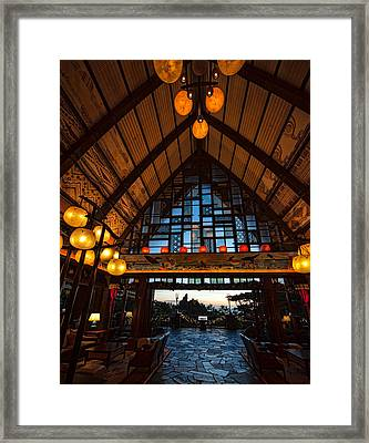 Aulani Lobby Framed Print