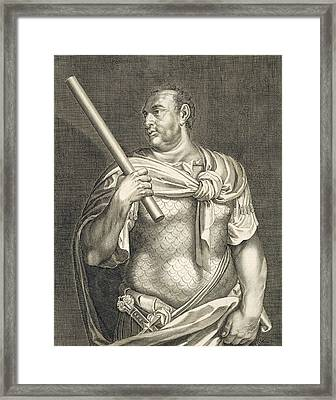Aullus Vitellius Emperor Of Rome Framed Print by Titian