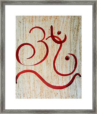 AUM Framed Print by Kruti Shah