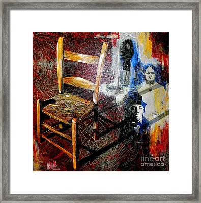 Aunt Sal's Chair Framed Print by Rebecca Myers