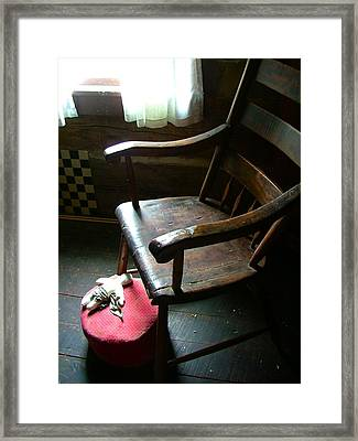 Aunt Tillie's Sewing Chair Framed Print