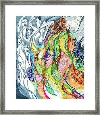Auralia's Cloak Framed Print by Karen  Renee