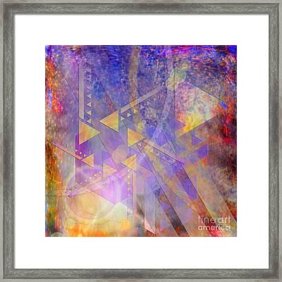 Aurora Aperture - Square Version Framed Print by John Robert Beck