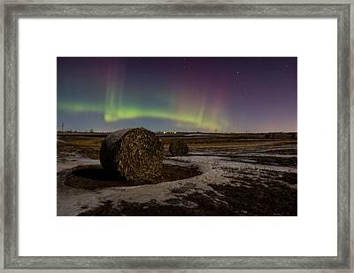 Aurora Bales Framed Print by Aaron J Groen