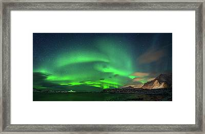 Aurora Borealis Above Ramberg, Lofoten Framed Print