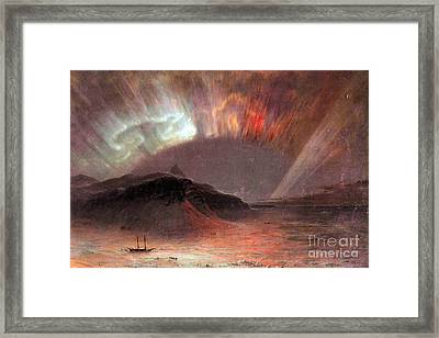 Aurora Borealis By Frederick Edwin Church Framed Print