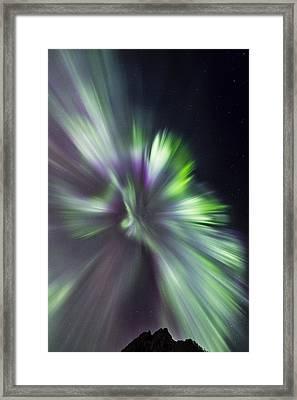 Aurora Borealis Corona Framed Print by Frank Olsen