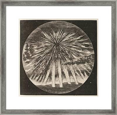 Aurora Borealis Corona Framed Print