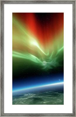 Aurora Borealis From Space Framed Print