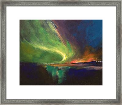 Aurora Borealis Framed Print by Michael Creese